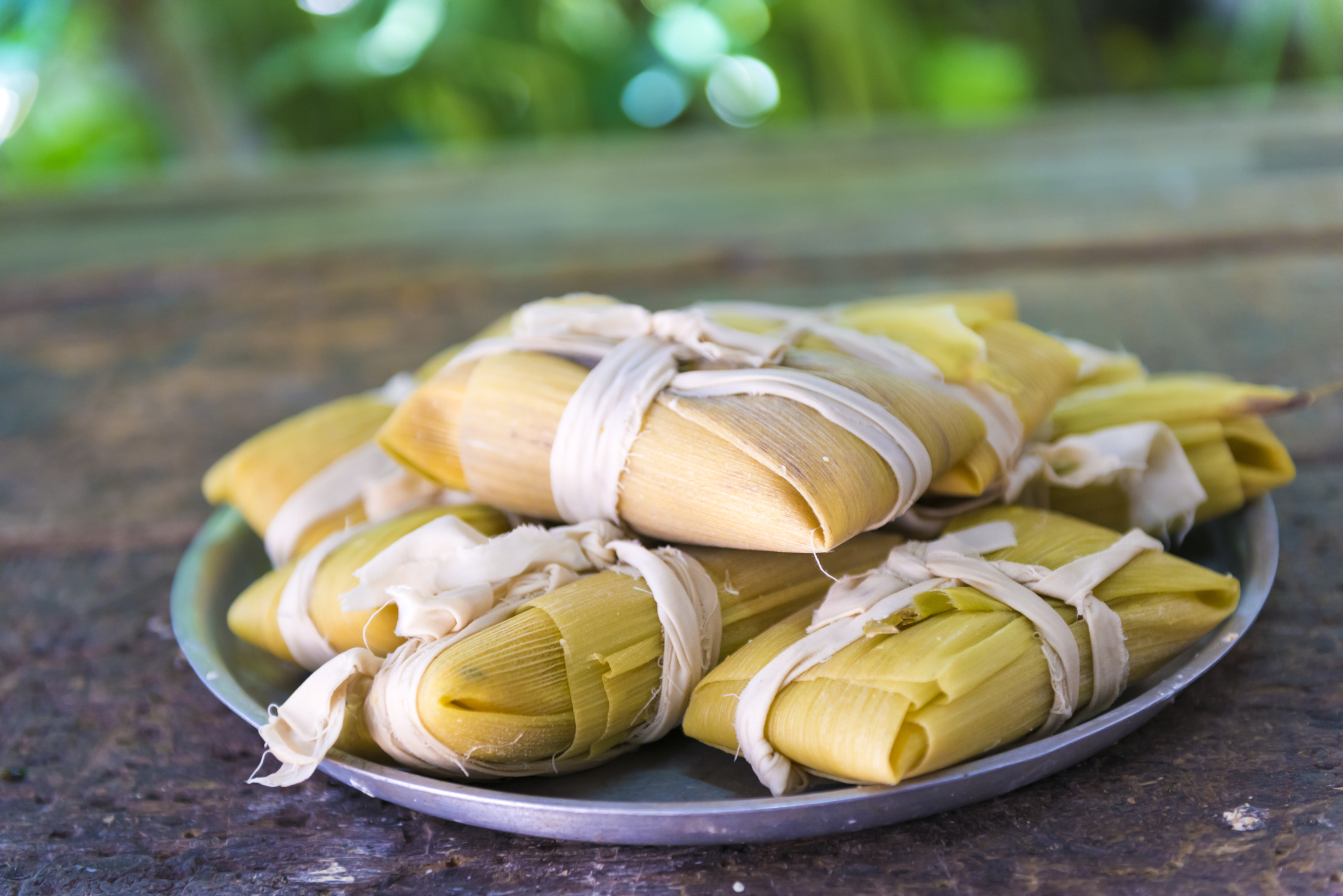 Cuban cuisine: traditional homemade tamal a popular Latin American dish