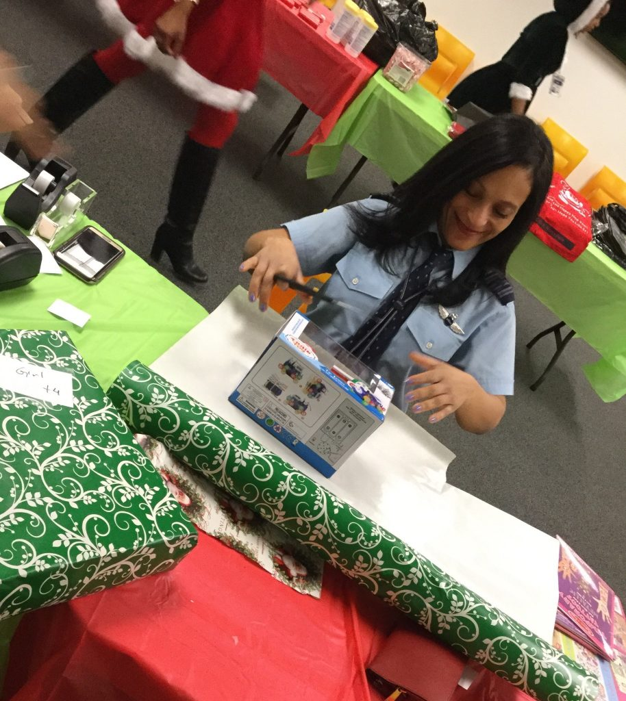 Becky Wrapping Gifts