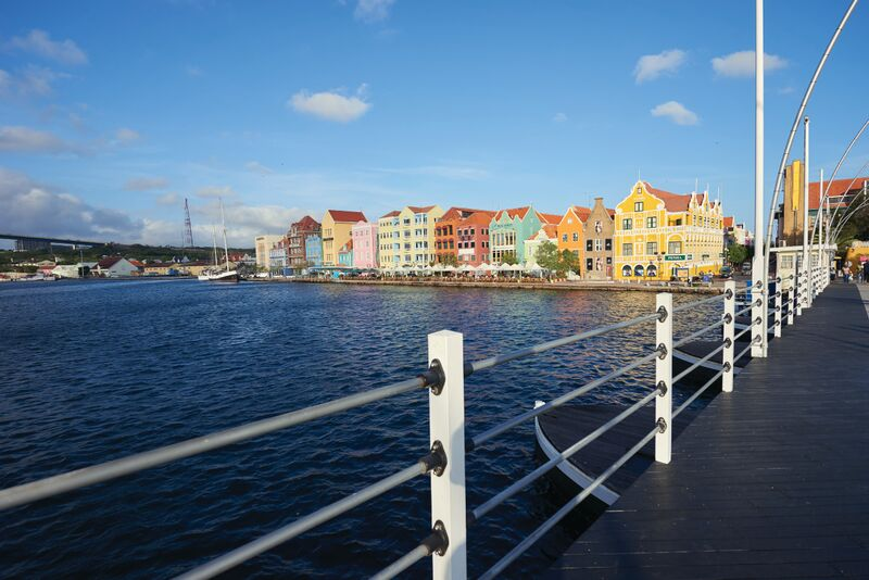 Curacao Colorful Buildings Bridge