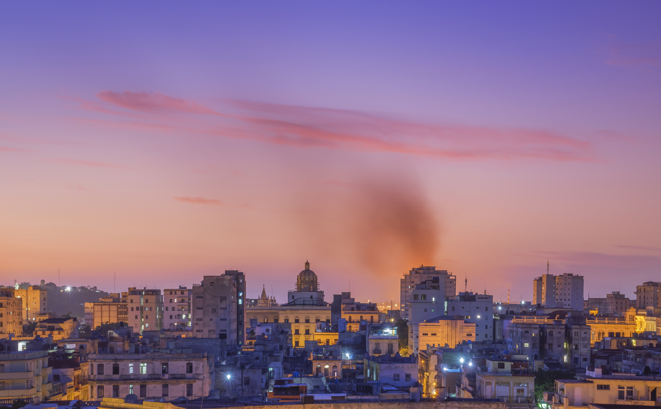 Havana skyline at dawn