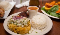 Puerto Rican dinner close-up
