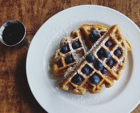 The Post East Nashville Tennessee Blueberry Waffles