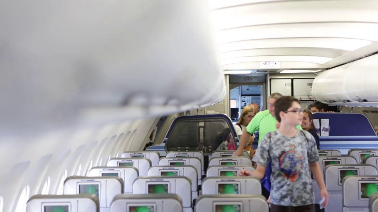 Passengers getting on to plane