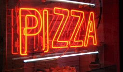 New York pizza neon sign