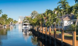 Canal waterway in Fort Lauderdale